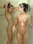 amateur photo Two gorgeous babes showering