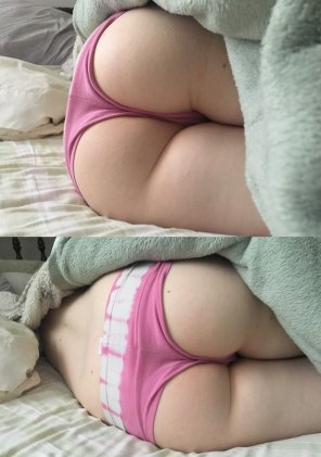 amateur photo BF couldn't resist snapping a few pics of my Sleeping Booty. Which do you prefer?