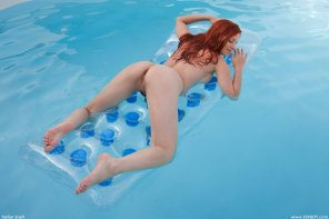 amateur photo Relaxing in the pool
