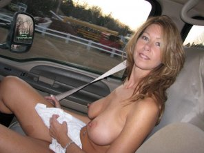 amateur photo Car milf