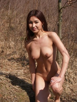 amateur photo Naked in nature