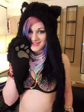 amateur photo Cute Raver Girl
