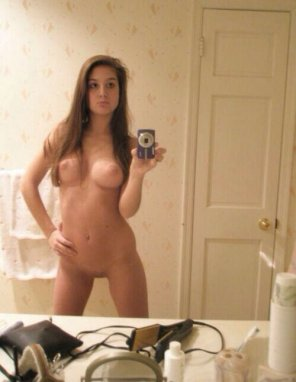 amateur photo Bathroom self shot