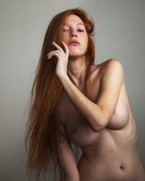 amateur photo long ginger hair