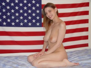 amateur photo Stars, stripes and boobs