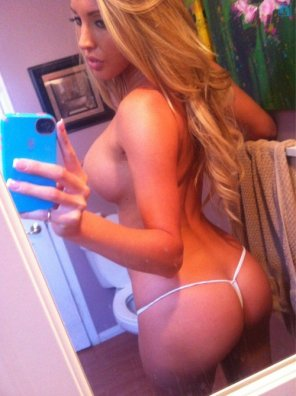 amateur photo tiny white thong