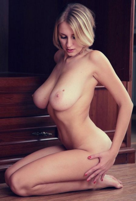 Busty Blonde Porn Photo