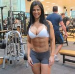amateur photo beautiful girl in gym