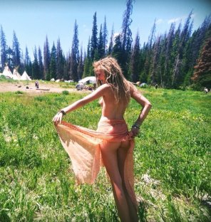 amateur photo Skinny sexy hippy chick
