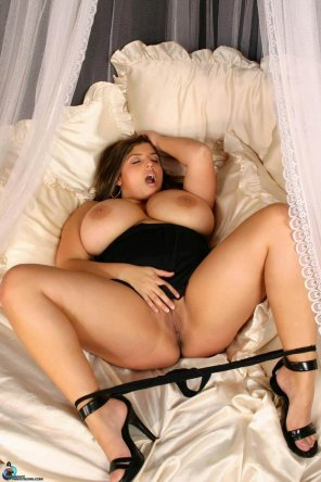 amateur photo Black Heels in Bed