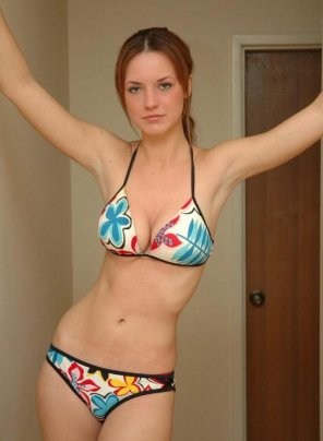 amateur photo Outgrowing her bikini