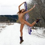 amateur photo Dancing in the snow