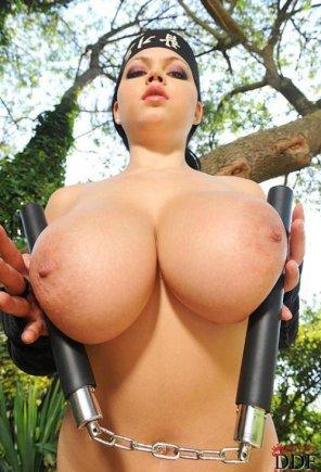 amateur photo big fake boobs