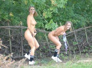 amateur photo Caught walking around naked