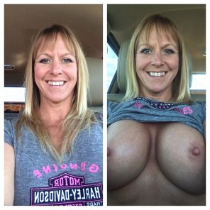 amateur photo Busty Blonde MILF