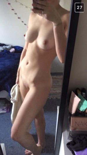 amateur photo Pale and naked