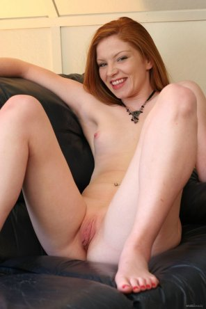 amateur photo Happy redhead