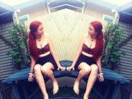 Mirrored redhead