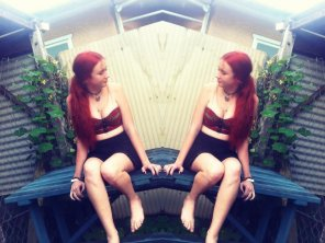 amateur photo Mirrored redhead