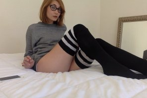 amateur photo Thigh Highs and Bedroom Eyes