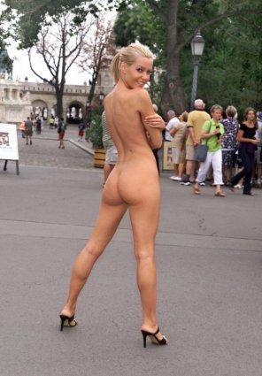 amateur photo Cute blonde at the Park