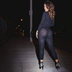 amateur photo See-through pants