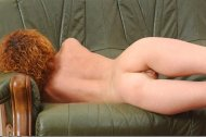 amateur photo Reclining Redhead