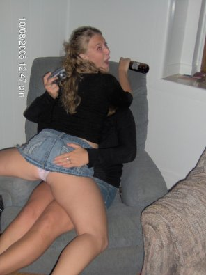 amateur photo Jean skirts: ideal for lady grinding