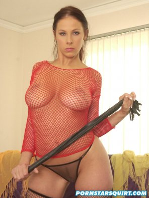 amateur photo Gianna Michaels wearing fishnet