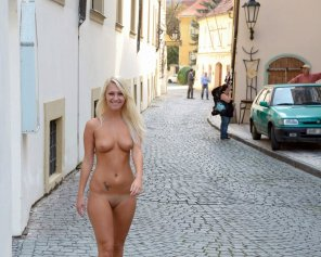 amateur photo In Europe nobody cares about a nude blonde