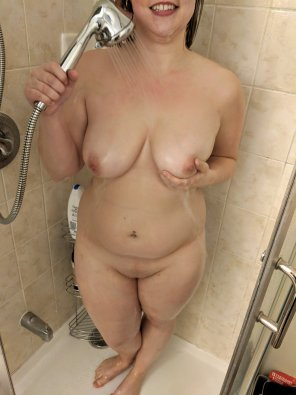 amateur photo Too baked to think o[f] a caption... here's a shower pic