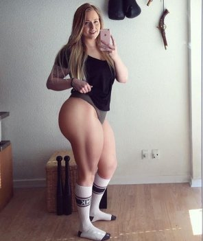 amateur photo Does she squat?