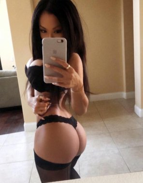 amateur photo Asian Hottie Selfie in a Thong