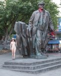 amateur photo Completely Naked Next to Lenin, in Seattle