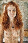 amateur photo Beautiful Redhead Mosaic Made of Smaller Redheads