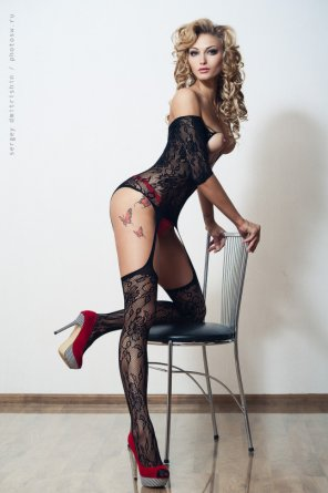 amateur photo Red black and lacy