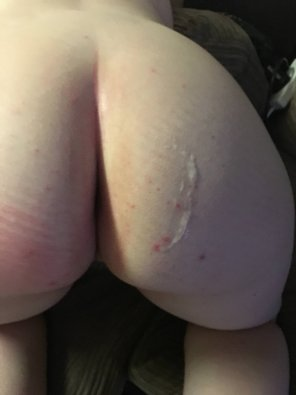 amateur photo 'You haven't cum on my arse yet..'