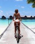 amateur photo Braids and bike