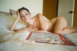 amateur photo Anyone up for some Scrabble?