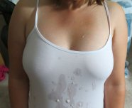 White tank top with a nice load!