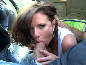 amateur photo Milf sucking on a big one