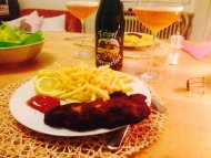 "for schnitzel&blowjob-day, my girl presented it vienna style accompanied by expuisit belgish ""tripel karmelit"""