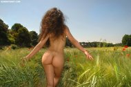 amateur photo Booty in a field