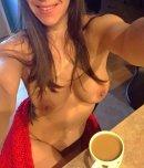 amateur photo Enjoying her morning coffee