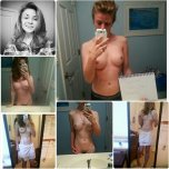 amateur photo Dirty blonde self shooter [collage]