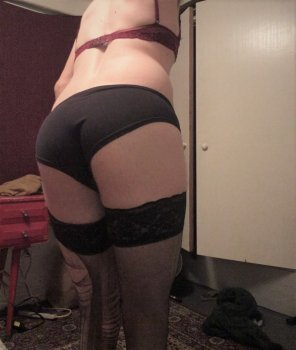 amateur photo My panties and torn tights