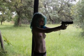 amateur photo Back yard shooting in just your undies, sounds like a good time to me.