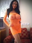 amateur photo Fishnet Dress