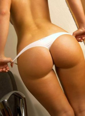 amateur photo Tanned White Underwear