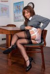 amateur photo Seamed stockings